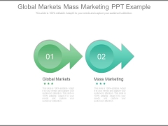 Global Markets Mass Marketing Ppt Example