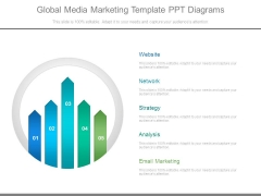 Global Media Marketing Template Ppt Diagrams
