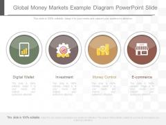 Global Money Markets Example Diagram Powerpoint Slide