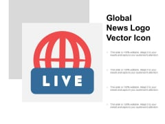 Global News Logo Vector Icon Ppt PowerPoint Presentation Layouts Deck