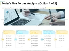 Global Organization Marketing Strategy Development Porters Five Forces Analysis Bargaining Pictures PDF