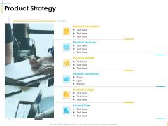 Global Organization Marketing Strategy Development Product Strategy Infographics PDF