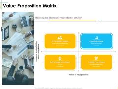 Global Organization Marketing Strategy Development Value Proposition Matrix Sample PDF