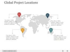 Global Project Locations Ppt PowerPoint Presentation Rules
