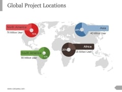 Global Project Locations Ppt PowerPoint Presentation Styles