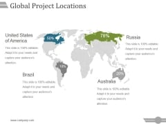 Global Project Locations Ppt PowerPoint Presentation Summary