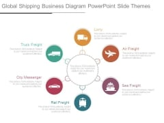 Global Shipping Business Diagram Powerpoint Slide Themes