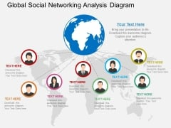 Global Social Networking Analysis Diagram Powerpoint Template