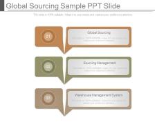 Global Sourcing Sample Ppt Slide
