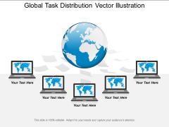 Global Task Distribution Vector Illustration Ppt PowerPoint Presentation Icon Demonstration PDF