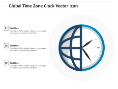 Global Time Zone Clock Vector Icon Ppt PowerPoint Presentation File Icons PDF