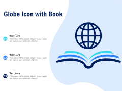 Globe Icon With Book Ppt PowerPoint Presentation Styles Tips PDF