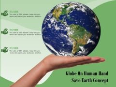 Globe On Human Hand Save Earth Concept Ppt PowerPoint Presentation Outline Background Designs PDF