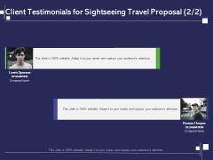 Globetrotting Tour Client Testimonials For Sightseeing Travel Proposal Management Ppt PowerPoint Presentation Layouts Inspiration PDF