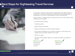 Globetrotting Tour Next Steps For Sightseeing Travel Services Ppt PowerPoint Presentation Model Format PDF