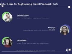Globetrotting Tour Our Team For Sightseeing Travel Proposal Sales Ppt PowerPoint Presentation Icon Designs Download PDF