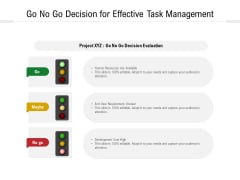 Go No Go Decision For Effective Task Management Ppt PowerPoint Presentation Gallery Rules PDF