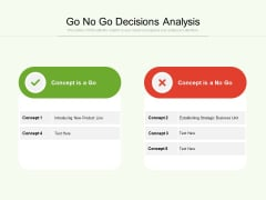 Go No Go Decisions Analysis Ppt PowerPoint Presentation Gallery Model PDF