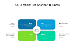 Go To Market Grid Chart For Business Ppt PowerPoint Presentation Gallery Template PDF