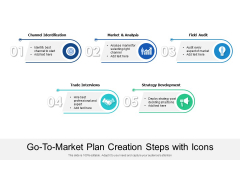 Go To Market Plan Creation Steps With Icons Ppt PowerPoint Presentation Inspiration Graphics PDF