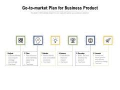 Go To Market Plan For Business Product Ppt PowerPoint Presentation Styles Design Ideas PDF