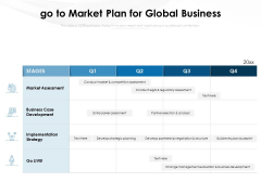 Go To Market Plan For Global Business Ppt PowerPoint Presentation Icon Aids PDF
