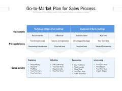 Go To Market Plan For Sales Process Ppt PowerPoint Presentation File Example Introduction PDF