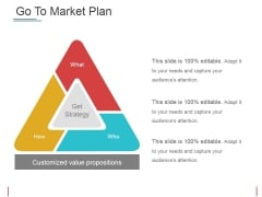 Go To Market Plan Ppt PowerPoint Presentation Pictures Guidelines