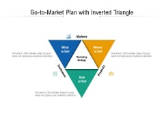 Go To Market Plan With Inverted Triangle Ppt PowerPoint Presentation File Shapes PDF
