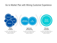 Go To Market Plan With Wining Customer Experience Ppt PowerPoint Presentation Icon Layouts PDF
