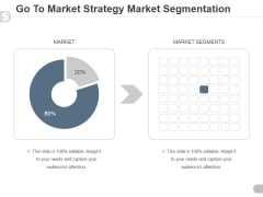 Go To Market Strategy Market Segmentation Ppt PowerPoint Presentation Guidelines