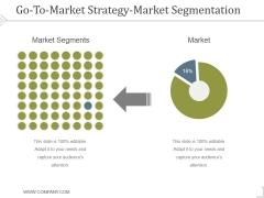 Go To Market Strategy Market Segmentation Ppt PowerPoint Presentation Inspiration