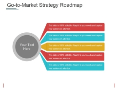 Go To Market Strategy Roadmap Template 1 Ppt PowerPoint Presentation Summary Show