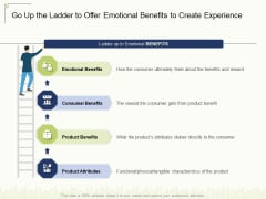 Go Up The Ladder To Offer Emotional Benefits To Create Experience Ppt Outline Deck PDF