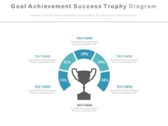 Goal Achievement Success Trophy Diagram Powerpoint Slides