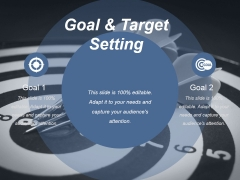 Goal And Target Setting Ppt PowerPoint Presentation Influencers