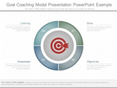 Goal Coaching Model Presentation Powerpoint Example