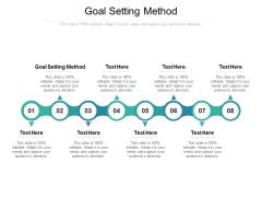 Goal Setting Method Ppt PowerPoint Presentation Portfolio Gallery Cpb