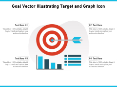 Goal Vector Illustrating Target And Graph Icon Ppt PowerPoint Presentation Gallery Inspiration PDF