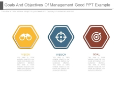 Goals And Objectives Of Management Good Ppt Example