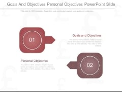 Goals And Objectives Personal Objectives Powerpoint Slide