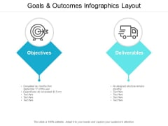 Goals And Outcomes Infographics Layout Ppt Powerpoint Presentation Layouts Introduction