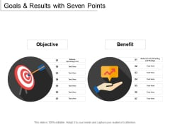 Goals And Results With Seven Points Ppt PowerPoint Presentation Gallery Master Slide
