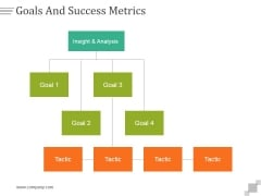 Goals And Success Metrics Ppt PowerPoint Presentation Guide