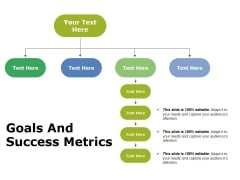Goals And Success Metrics Ppt PowerPoint Presentation Layouts Design Templates