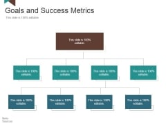 Goals And Success Metrics Ppt PowerPoint Presentation Professional Ideas