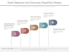 Goals Objectives And Outcomes Powerpoint Shapes