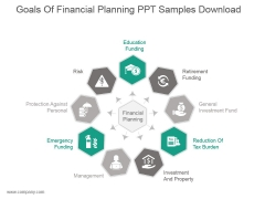 Goals Of Financial Planning Ppt Samples Download