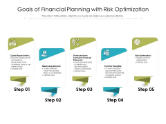 Goals Of Financial Planning With Risk Optimization Ppt PowerPoint Presentation Ideas Skills PDF