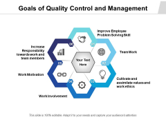 Goals Of Quality Control And Management Ppt PowerPoint Presentation Slides Picture PDF